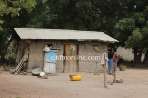 The home of a resident of Sota, about an hour from Accra